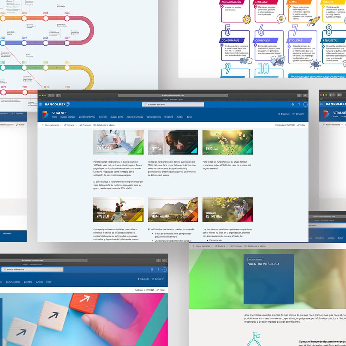 intranet de Bancoldex por Imaginario